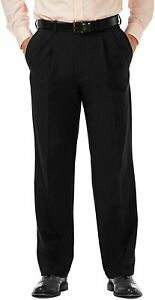 Haggar Men's Cool 18 Pro Classic Fit Pleat Front Expandable Waist Pant