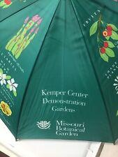 Vintage Umbrella Orange Lucite Handle Missouri Botanical Garden Flowering Plants