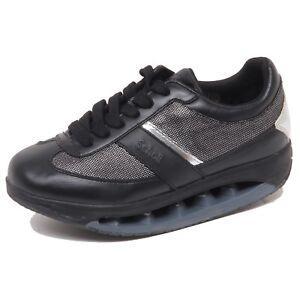 F4002 sneaker donna black/silver SCHOLL STARLIT tissue/leather shoe woman