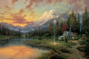 Evening Majesty by Thomas Kinkade from Beginning of a Perfect Evening