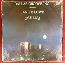 """MODERN SOUL FUNK LP: JANICE LOWE One Life SIGNED by producer RUDY """"TUNES"""" WILSON"""