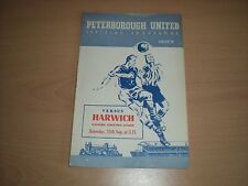Peterborough United V Harwich -25/8/1956-Football Programme - Eastern Counties