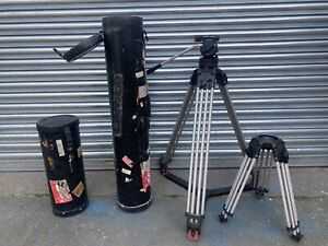 Sachtler Panorama 7+7 head with tall and short legs + travel cases