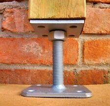 Pied de poteau réglable en hauteur, support galvanisé 70x70 90x90 120x120