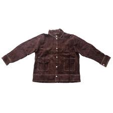Welding Work Jacket Flame-Resistant Cowhide Leather Welding Coat Suits - Xl