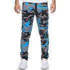 Men Camo Elastic Waist Trousers Casual Loose Combat Sports Long Pants Sweatpants