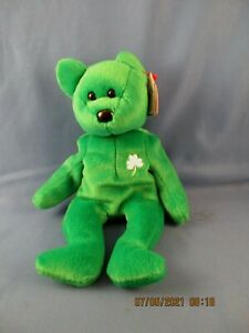 RARE!!! Ty 1997 Beanie Baby 4186 Erin The Bear is in good condition