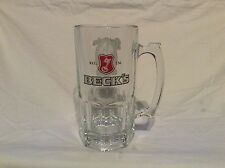 Beck's Beer 1 Liter LARGE Stein GLASS mug Oktoberfest Vail Colorado 2010 R1