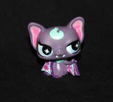 Littlest Pet Shop Purple & Pink VAMPIRE BAT No LPS # Blue Eyes Argyle Punkiest