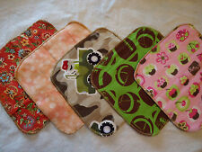 New Homemade 10 Double Layered Flannel Cloth Wipes/ Washcloths/ Napkins Washable