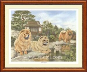 CHOW CHOW fine art dog print 'Oriental Reflections'