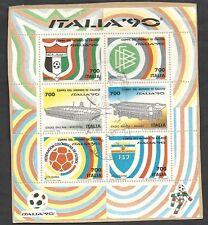 1990 ITALIA USATO FOGLIETTO 700 LIRE CAMPIONATI MONDIALI DI CALCIO SU FRAMMENTO