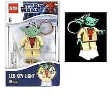 LEGO Star Wars yoda minifigure Key Light LED Clip On Keychain new in box