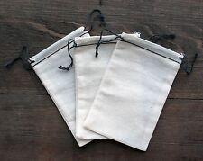 50 (3x5) Black Hem and Black Double Drawstring Musln Bags