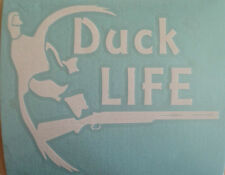 Duck Life. Hunting decal window sticker 6 x 5 approx.
