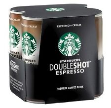 24 STARBUCKS Doubleshot ESPRESSO & CREAM 6.5 oz Coffee Cans Iced Drink Lot