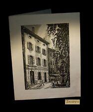 [VAR BRIGNOLES Gravure] DECARIS (Albert, ill. de) - Carte de voeux.