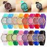 New Women's Fashion Geneva Roman Numerals Silicone Analog Quartz Wrist Watch