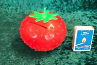 Erdbeere Spardose Sparbüchse der DDR f. Sammler Plaste #1607
