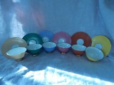 Set of 6 Vintage Bareuther Bavaria Tea Cups and Saucer 33 Rainbow Germany