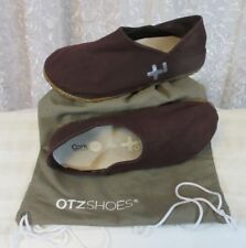 OTZ Womens Coarse Linen Slip On Flat Purple US 6 EUR 36 Cork lite Bag EUC 300gms