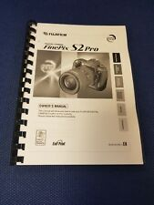 FUJIFILM FINEPIX S2 PRO PRINTED INSTRUCTION MANUAL USER GUIDE 126 PAGES A5