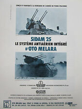 5/1987 PUB OTO MELARA OERLIKON SIDAM 25 VTT M113 ANTIAERIEN ORIGINAL FRENCH AD