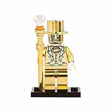Mr Gold Minifigure Series 10 Custom Shine Special Monopoly Man Gold