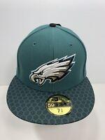 "New Era 59FIFTY Aqua Green Philadelphia Eagles 7 5/8"" Fitted Flat Bill Cap, NEW!"