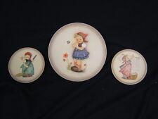 Lot of 3 Hummel Collector Plates Daisies Don't Tell & 2 Little Homemaker, Vg