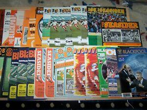 29 Football Programmes ~ Blackpool Home Matches - 1964 - 2004