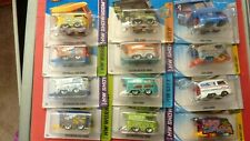 Set of 12 Kool Kombi VW Vans