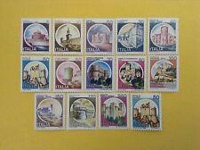 1980/91 ITALIA LOTTO 14 FRANCOBOLLI NUOVI CASTELLI D'ITALIA