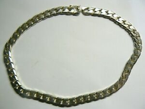 STUNNING SILVER PLATED MEN's CURB CHAIN NECKLACE