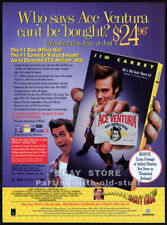 ACE VENTURA: PET DETECTIVE__Orig. 1994 Trade print AD__JIM CARREY__Courteney Cox