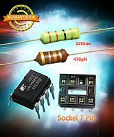 LNK304PN + Widerstand 22 Ohm 3W + HF Drossel 470µH + Sockel für AEG