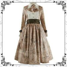 [Frankenstein] beige~khaki long Classic Lolita Dress Op