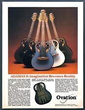 1983 Ovation Adamas II Acoustic-Electric Graphite Guitar photo vintage print ad