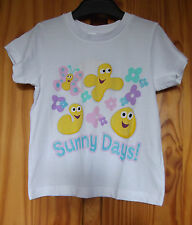CBeebies Size 3-4 years BBC Sunny Day White Cotton Girls T Shirt