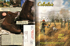 Hunting Fishing & Outdoor Gear Cabela's 1987 Fall Catalog Firearms Cammo Boots