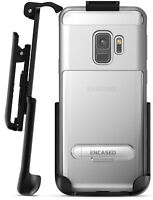 Samsung Galaxy Note 9 Clear Case w/Metal Kickstand and Belt Holder Clip (Silver)