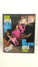 Art Award Acrylic Paint By Number Set Clown Series AC-1000 Vintage 1970 Sealed