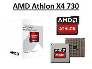 AMD Athlon X4 730 Quad Core Processor 2.8 - 3.2 GHz, Socket FM2, 65W CPU