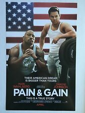 """PAIN & GAIN movie poster print MARK WAHLBERG, DWAYNE JOHNSON 11"""" x 17"""" inches"""