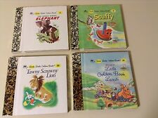 Lot of 4 Little Little Golden Books - Mint, Uncirculated - 1947 - 1952 - 1955 -