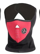 Welltop Neoprene Bicycle Motorcycle Snowboard Ski Cycling Half Face Mask Red Blk
