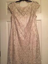 Kay Unger Gold Lace Dress, Size 8