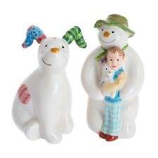 John Beswick Snowman & Snow Dog Salt & Pepper (JBS30) with free Wade whimsie