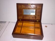 "Antique Jewelry Box ""Eastlake Style"" With Working Lock & Skeleton Key"