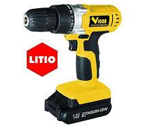 TRAPANO AVVITATORE A BATTERIA AL LITIO VOLT 14,4V LUCE A LED + VALIGIA VST-1440